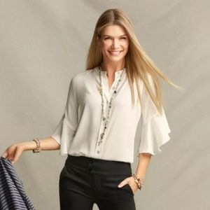 Cabi Float Blouse in White Size Small style 5521
